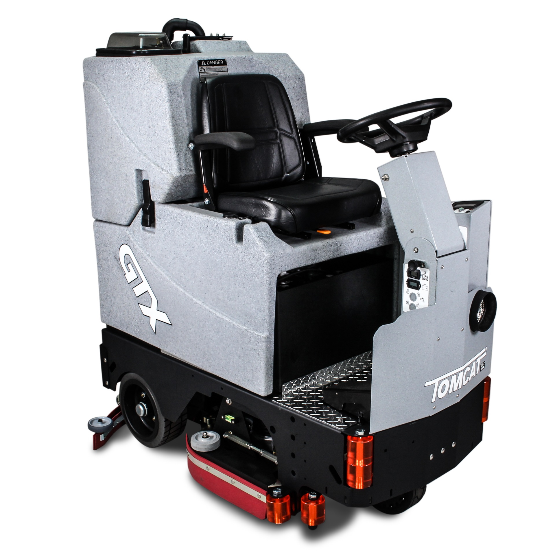 Heavy duty ride-on scrubber drier, highly productive floor cleaning & preparation