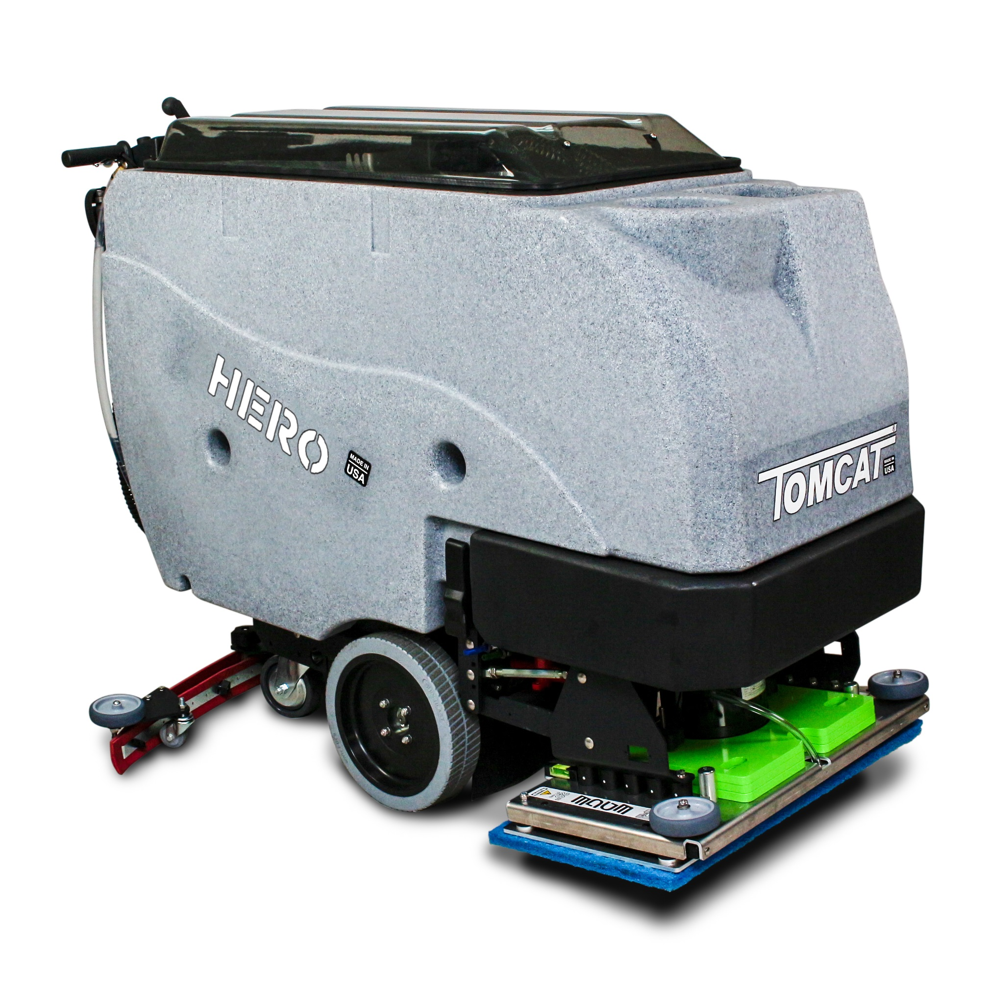 Large powerful pedestrian scrubber with EDGE scrub deck technology
