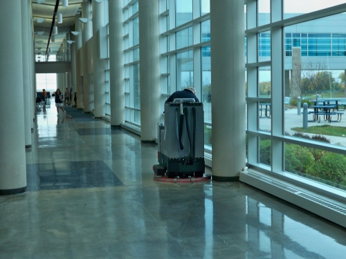 rider scrubber dryer